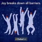 Joy breaks down barriers